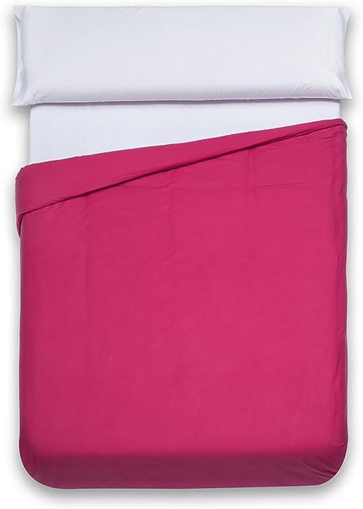 Sancarlos - Funda nórdica lisa, 100% Algodón, Color rosa, Cama de ...