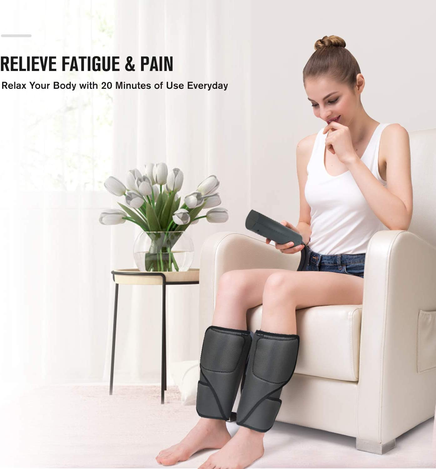 FIT KING Leg Massager with Heat for Circulation & Pain Relief Sequential  Compression Calf Massager 3 Modes 3 Intensities: Amazon.ca: Health &  Personal Care