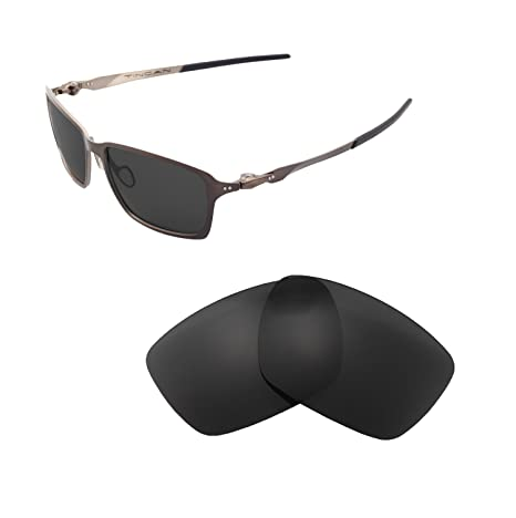 4a2f91babaf2e Walleva Replacement Lenses for Oakley Tincan Sunglasses - Multiple Options  Available (Black - Polarized)