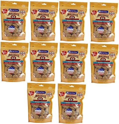 Smokehouse USA Prime Chips Chicken & Beef 10 lb (10x16oz Bag) by SmokeHouse