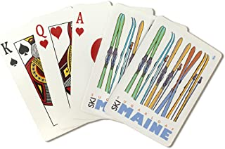 product image for Sugarloaf, Maine - Skis in Snow (Playing Card Deck - 52 Card Poker Size with Jokers)