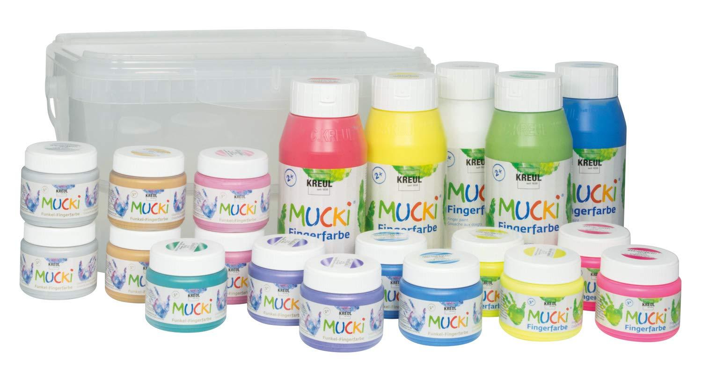 Kreul 29160 - Big Box zum Malen mit Fingerfarben, 20 teilig