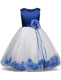 25d881e5a Amazon.com: NNJXD Girl Dress Kids Ruffles Lace Party Wedding Dresses ...