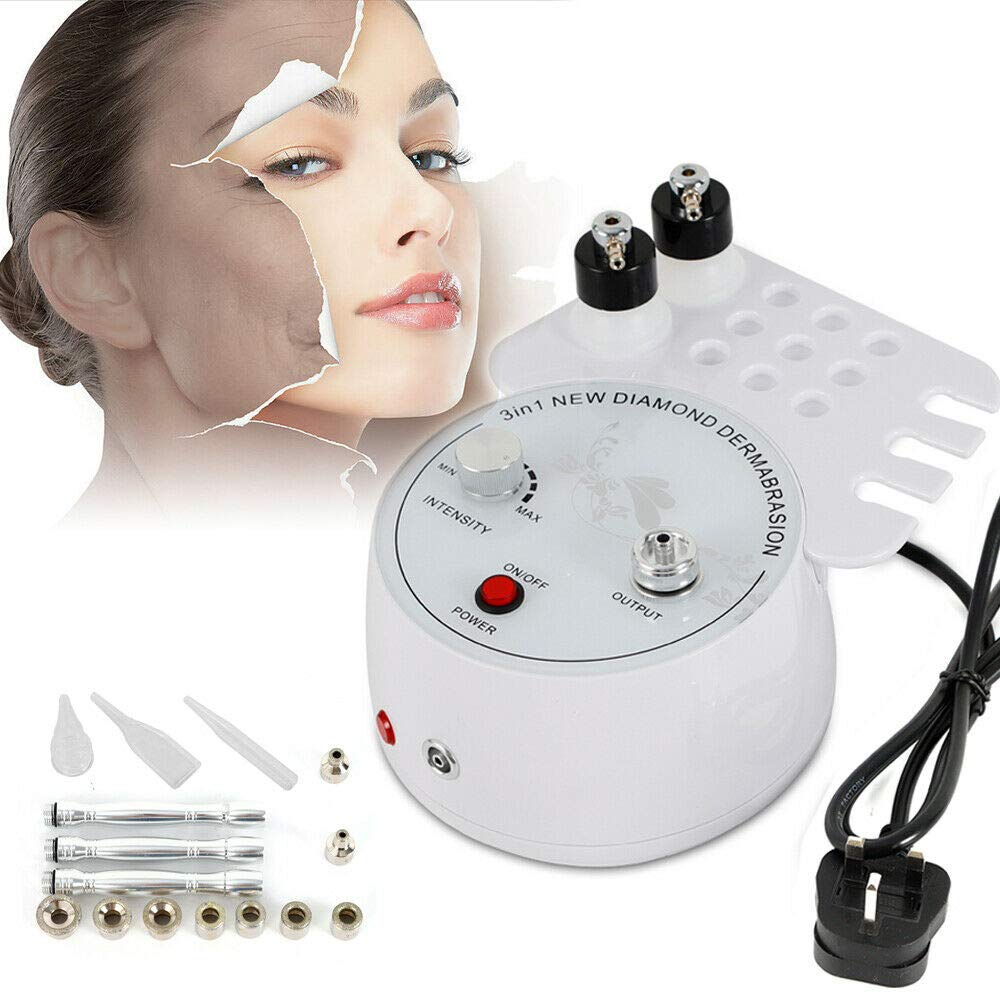 3-in-1 Diamond Microdermabrasion Dermabrasion Oxygen Peel Vacuum Spray Machine Facial Peeling Spa Diamond Dermabrasion Machine (US STOCK) by SHZICMY