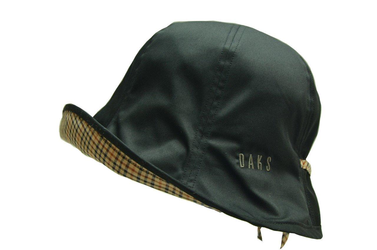長い期間活躍  [DAKSダックス] UV加工 コットンチューリップオブザーハット  (ブラウン/ワイン/ベージュ/ブラック) D7218 B078HJS9B9 M(57cm)|ブラック ブラック M(57cm)