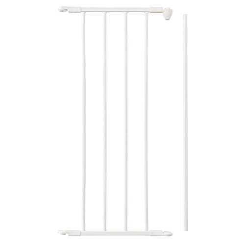 BabyDan 67234-2400 Flex Metal 13 Inch Baby and Pet Gate Extension Panel Accessory, White