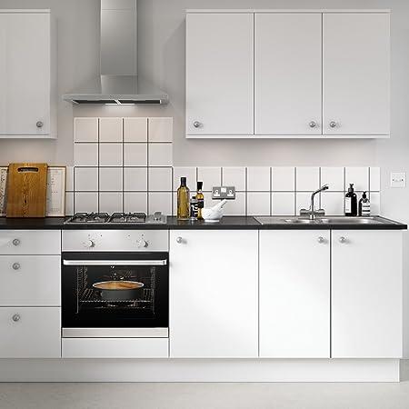 KINLO - Klebefolien - Weiß -10100 * 1010.1010/1010.100/1010.10m glanz -Möbelfolie -  10,10/10,10/10,10 € -10 Farben- PVC-Klebefolie Küchenschrank Aufkleber  Selbstklebend