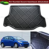 Car Boot Pad Carpet Cargo Mat Trunk Liner Tray Floor Mat For Hyundai Accent Hatchback 2012 2013 2014 2015 2016