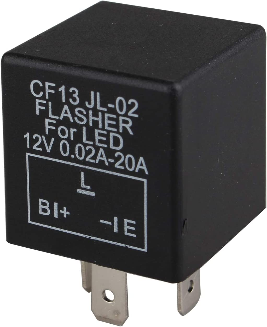 Futheda LED Speed Adjustable Car Flasher Relay Turn Signal 3 Pin 12V Motorbike Electronic Flasher Blinker Relay to Fix Indicator LED Light Compatible with Car CF13 JL-02 0.02A-20A