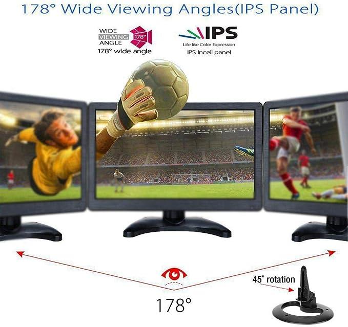 Televisor Portátil de 9,5 Pulgadas, Mini ángulo de Visión Amplio Visualización de HD Coche Analógico Móvil Completo DVD Televisión Color TFT LCD Reproductor de Video Soporte Sistema TV PAL/NTSC/SECAM: Amazon.es: Hogar