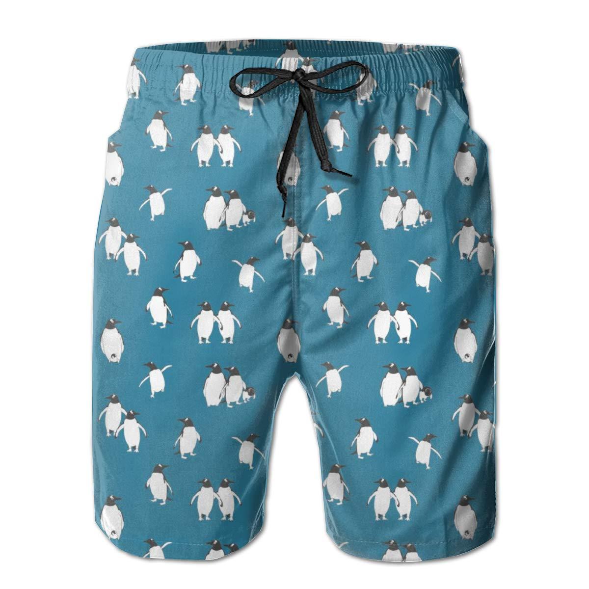 YongColer Men Swim Trunks Drawstring Elastic Waist Beach Shorts Unicorn Repeating Pattern