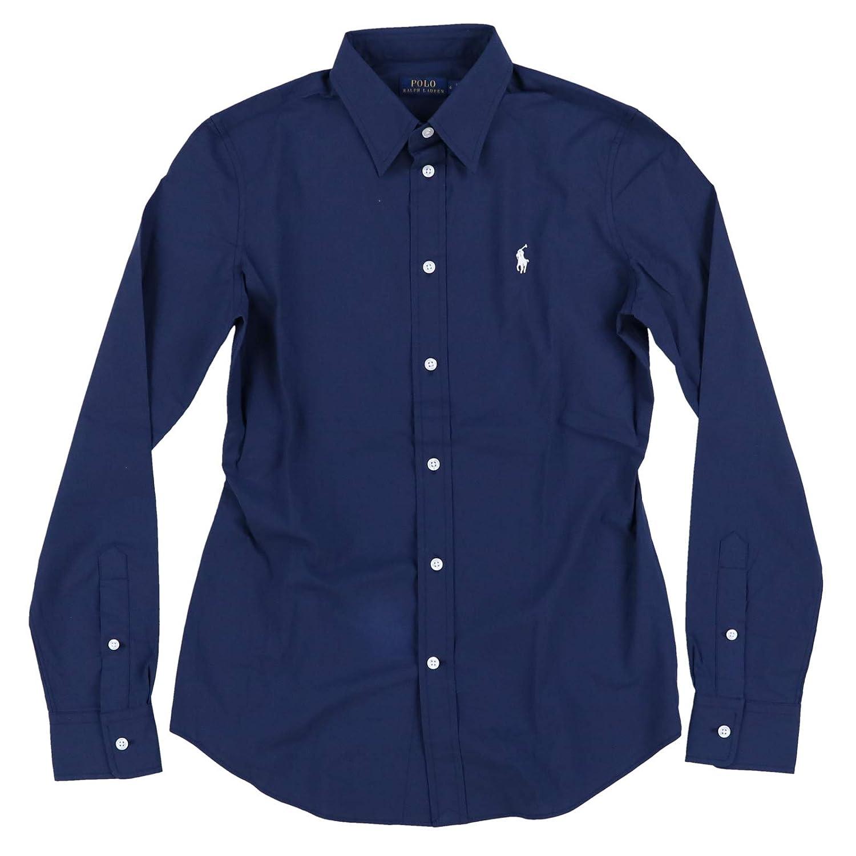 Polo Ralph Lauren Womens Long Sleeve Poplin Shirt