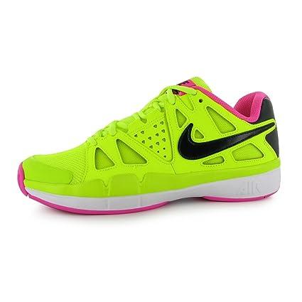 Nike Air Vapor Advantage – Zapatillas de Tenis para Mujer (Volt/Negro/Rosa