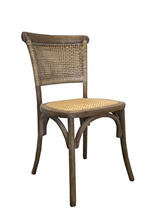 Keyhomestore par 2 sillas Vintage Madera Paja de Vienna ...