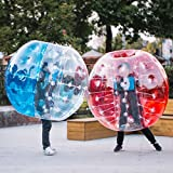 Happybuy Inflatable Bumper Ball 1.2M/4ft 1.5M/5ft Diameter Bubble Soccer Ball Blow Up Toy in 5 Min Inflatable Bumper Bubble Balls for Adults or Child (Red+Blue, 5ft 2pcs)