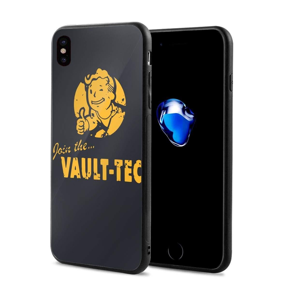 d36b1051e7 Amazon   IPhone X ケース フォールアウト ゲーム ヴォールトテック ロゴ 耐水、防指紋 耐衝撃 極薄 耐久 全面保護 アイフォン対応  高級感あり   ケース・カバー 通販
