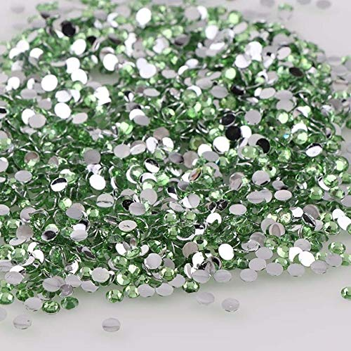 (Nail Art Accessories - 2000pcs 2mm Round Resin Rhinestones For DIY Nail Jewelry Decorations - Nail Rhinestones And Charms Nail Jewelry And Decorations Nail Gems And Rhinestones - Peridot)