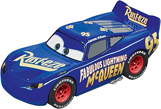 Amazon Com Carrera Usa 20030859 Fabulous Lightning Mcqueen Digital 1 32 Scale 132 Slot Car Racing Vehicle Blue Toys Games