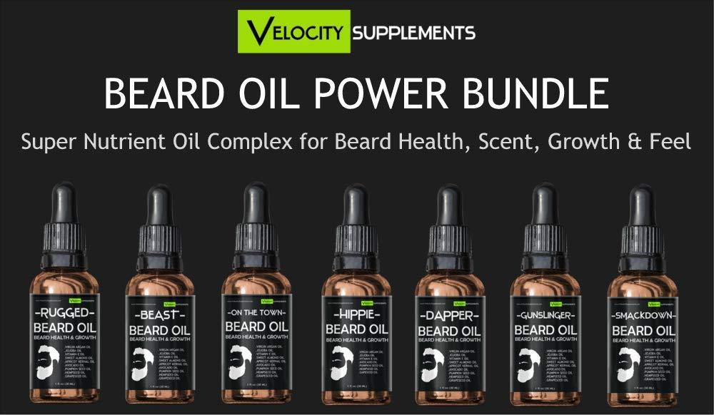 Beard Oil for Beard Growth, Beard Thickness, Beard Scent & Beard Health by Velocity Supplements (Image #1)