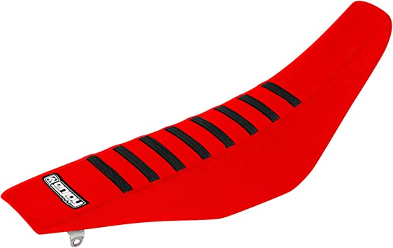 All Black Red Ribs Enjoy MFG Ribbed Seat Cover for Husqvarna TC TE TXC SMR 250 310 450 510