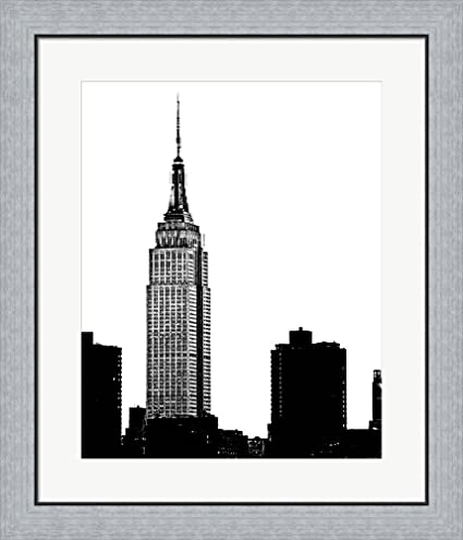 Amazon.com: NYC Skyline I by Jeff Pica Framed Art Print Wall Picture ...