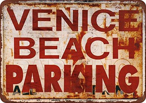Venice Beach Parking Vintage Reproduction Metal Sign 8 x 12