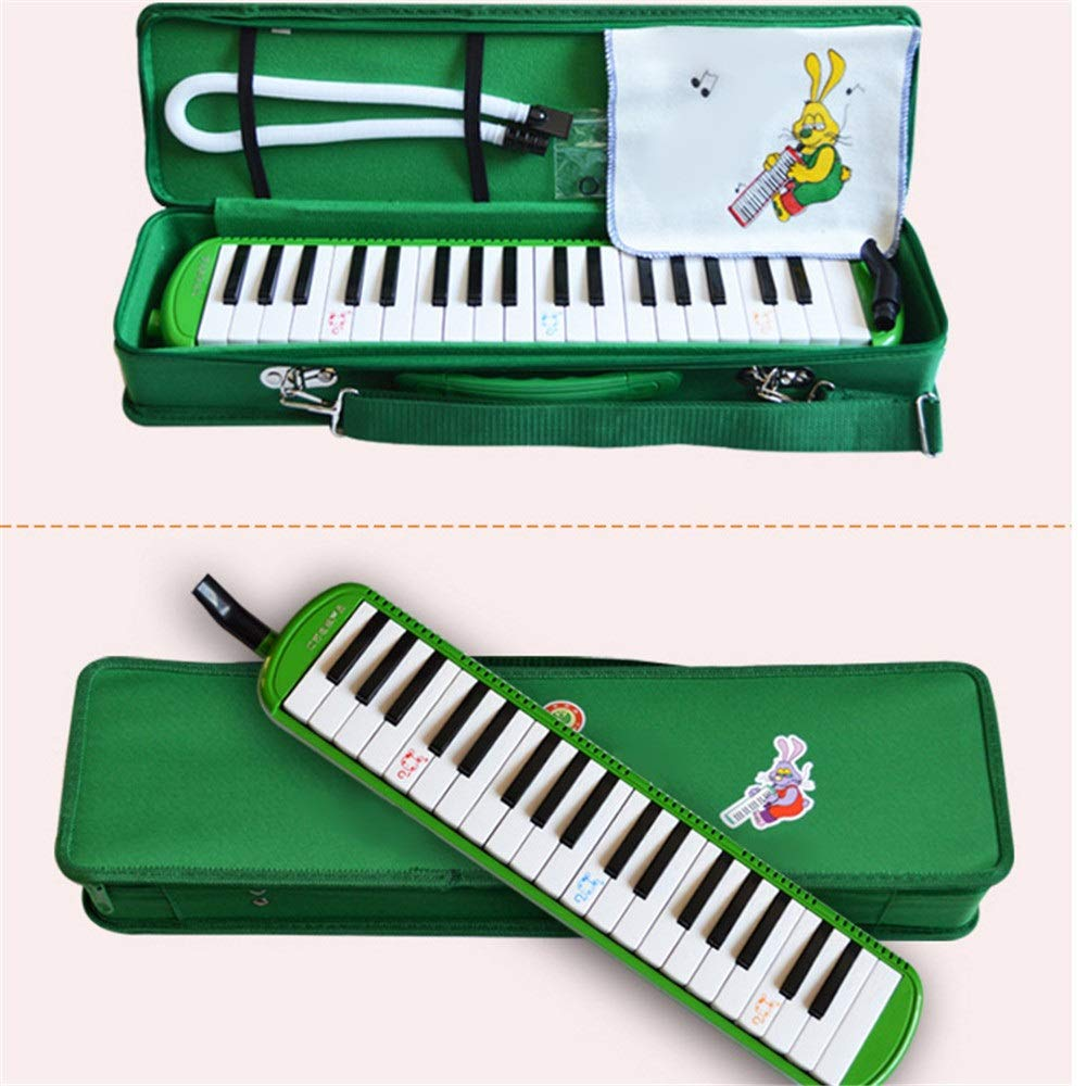 Melodica Musical Instrument Educational Portable 37 Keys Melodica Instrument Piano Style Full Sets With Carrying Bag Straps Double 2 Mouthpieces Tube Musical Gift Toys For Kids Beginners Students for by Shirleyle-MU (Image #2)