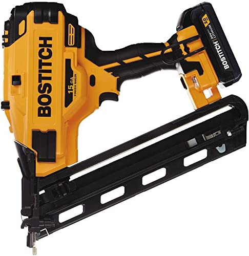 BOSTITCH 20V MAX Finish Nailer Kit, Angled, 15GA BCN650D1