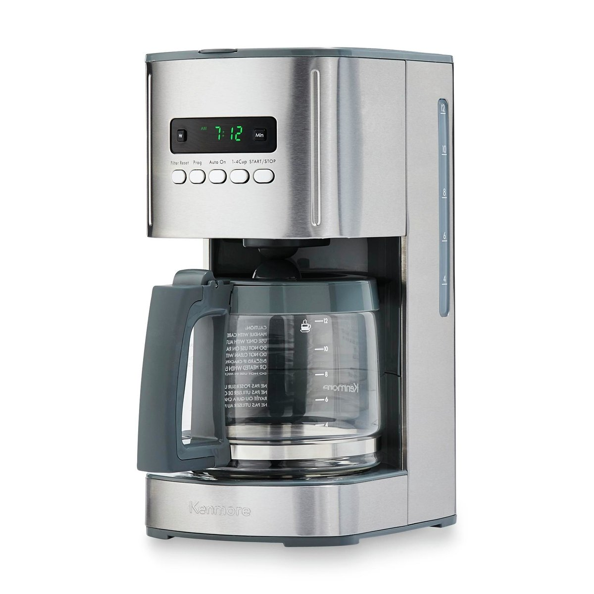 Kenmore 00840706 12-Cup Programmable Aroma Control Coffee Maker, Stainless Steel by Kenmore