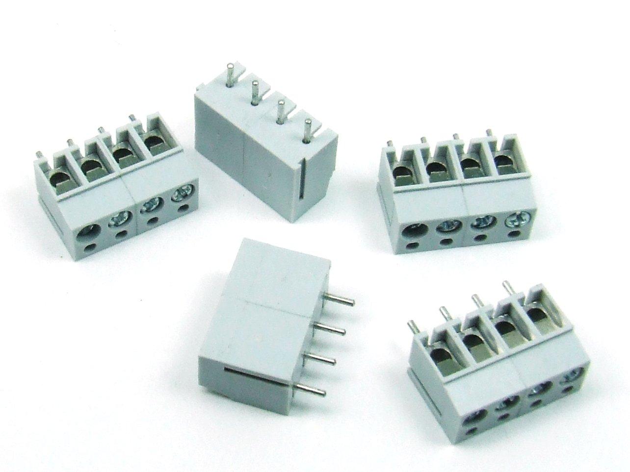 5 Stk.//pcs x KLEMMLEISTE//TERMINAL BLOCK 4 polig//way 16A Platine PCB #A740 POPESQ/®