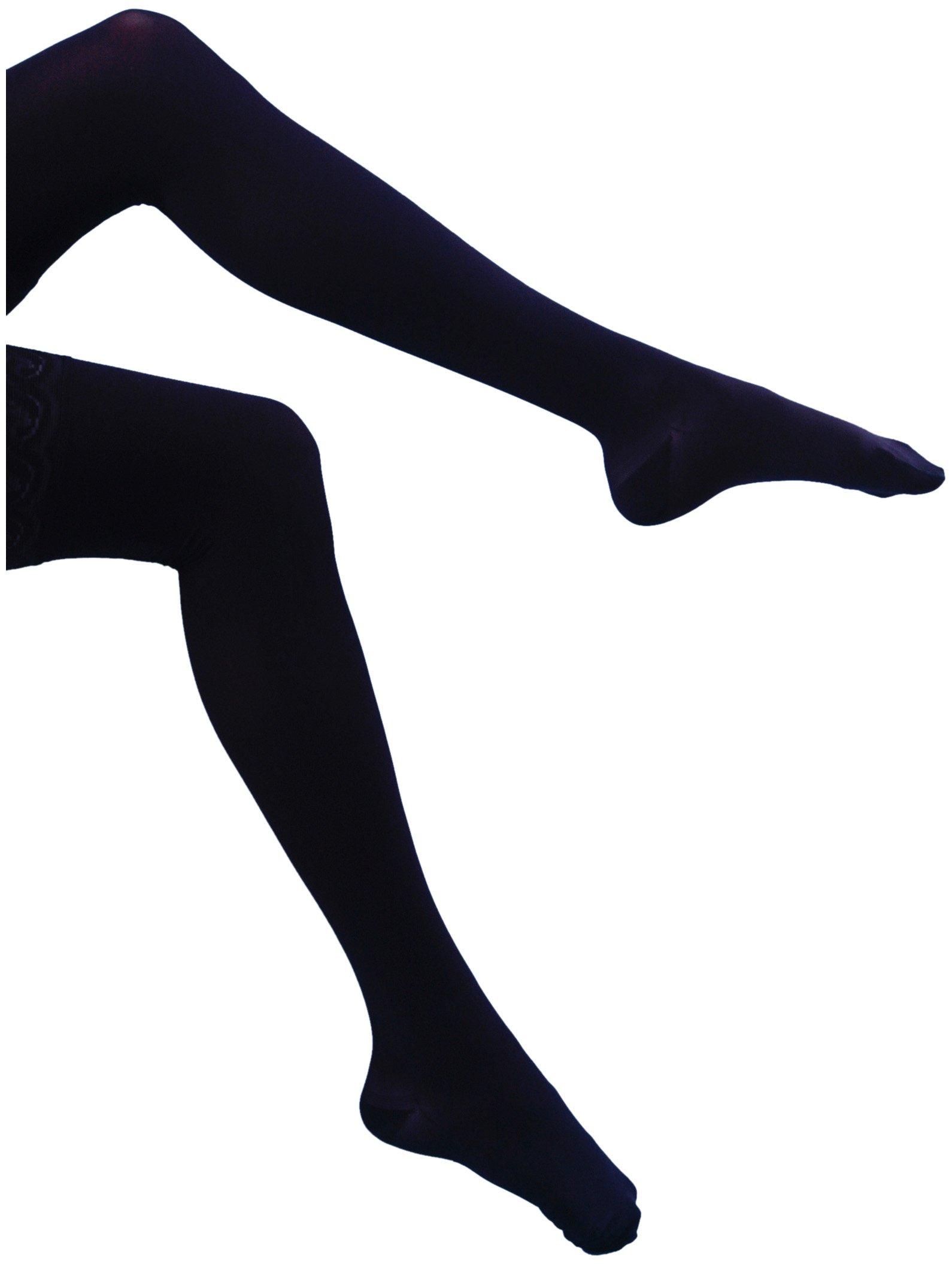 Bauerfeind VenoTrain Micro Maternity Pantyhose (ATU) 20 - 30 mmHg Compression Stockings (Black, Medium Plus Long)
