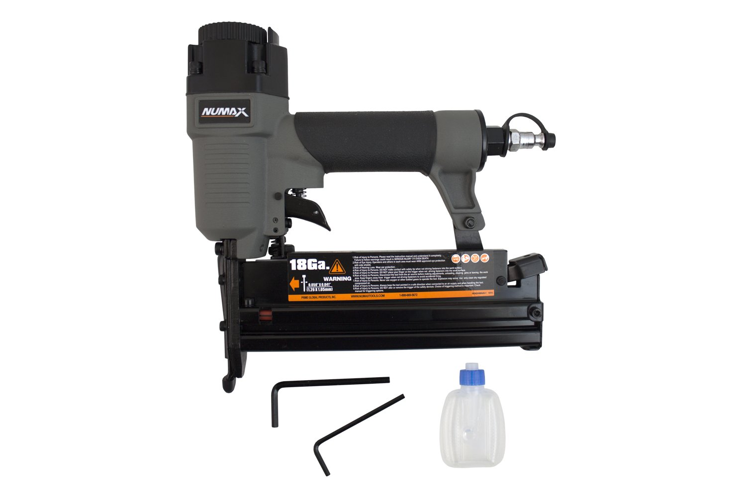 NuMax SL31 18 & 16 Gauge Pneumatic 3-in-1 Nailer & Stapler, Gray & Black by NuMax (Image #2)
