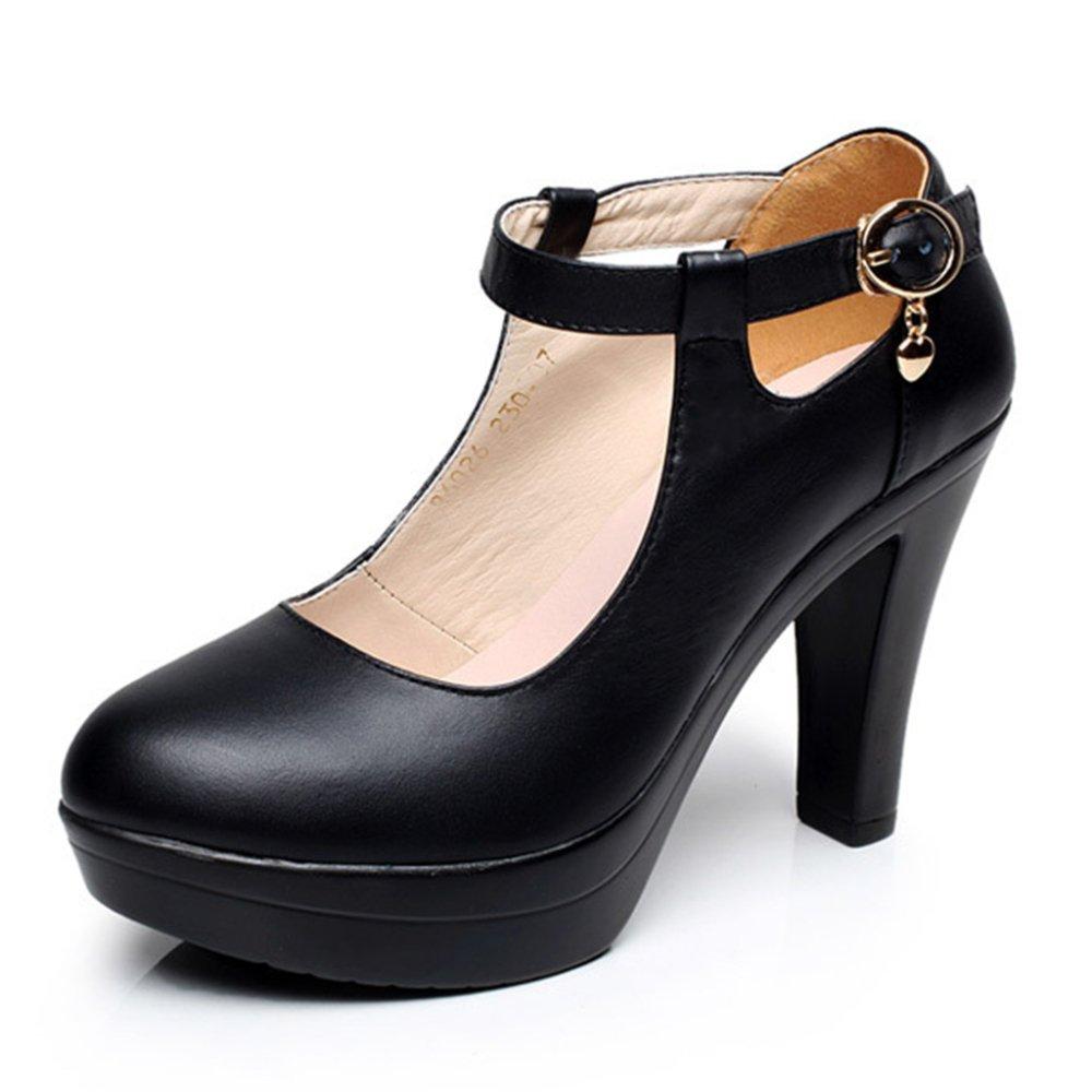 Femmes Black Chaussures Dames Élégant Extrême Talon Plate-Forme Plate-Forme Talons De Chaussures De Travail Pour Dames Club Mary Jane Pompes Black de9e3dd - epictionpvp.space