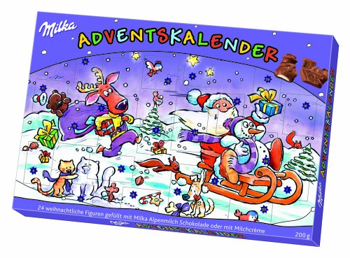 MILKA of GERMANY- Advent Calendar with chocolate piece for each day-Christmas Countdown-IMPORTED from GERMANY