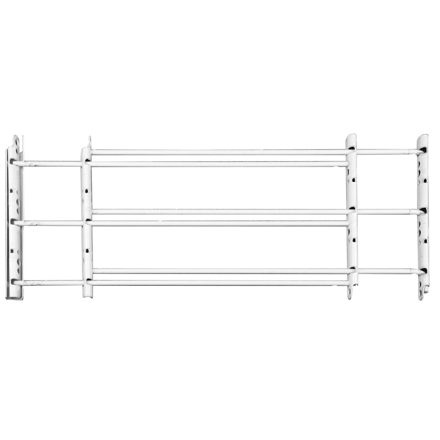 John Sterling BK-1133 3Bar Basic Fixed Guard 11x24-42 Inches White by Knape & Vogt
