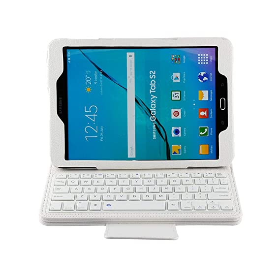 new concept 0a713 768bb Amazon.com: Samsung Galaxy Tab S2 9.7 Leather Keyboard Folio Case ...