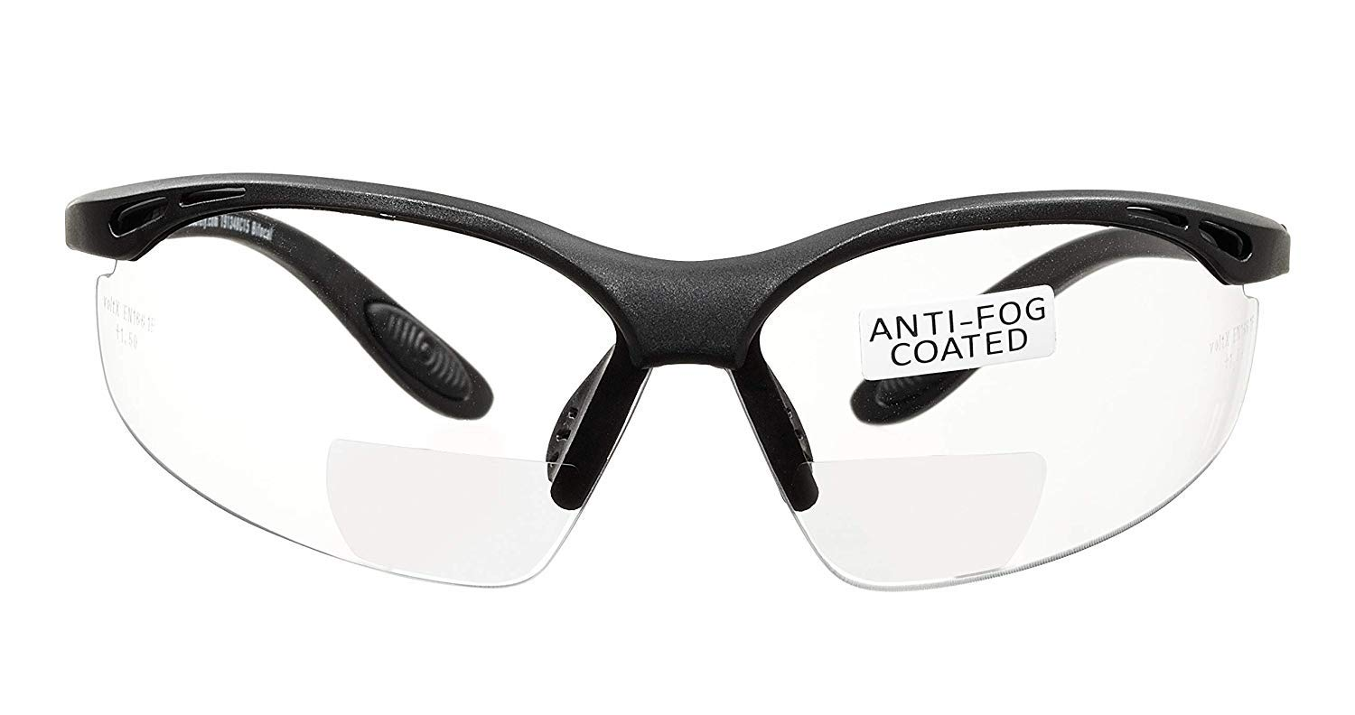 1593aa2e432 voltX  CONSTRUCTOR  BIFOCAL Reading Safety Glasses (CLEAR +3.5 Dioptre) CE  EN166F
