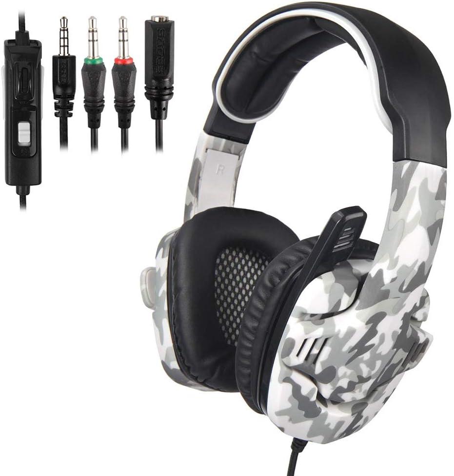 Rotatable Design CHUSHENG Head-Mounted Computer Gaming Headset Hidden Microphone Line Control Volume,C Adjustable Intelligent Noise Reduction Headband