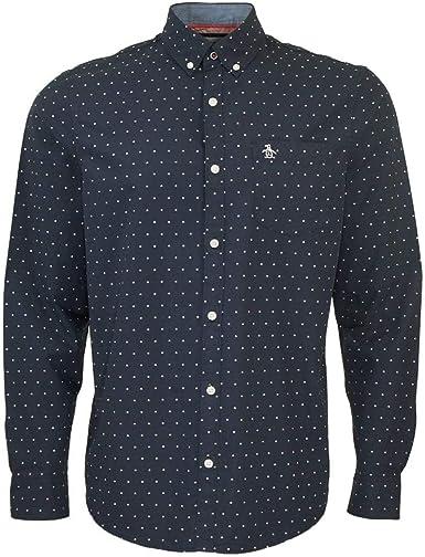 ORIGINAL PENGUIN All Over Star Camisa Casual, Azul (Zafiro ...