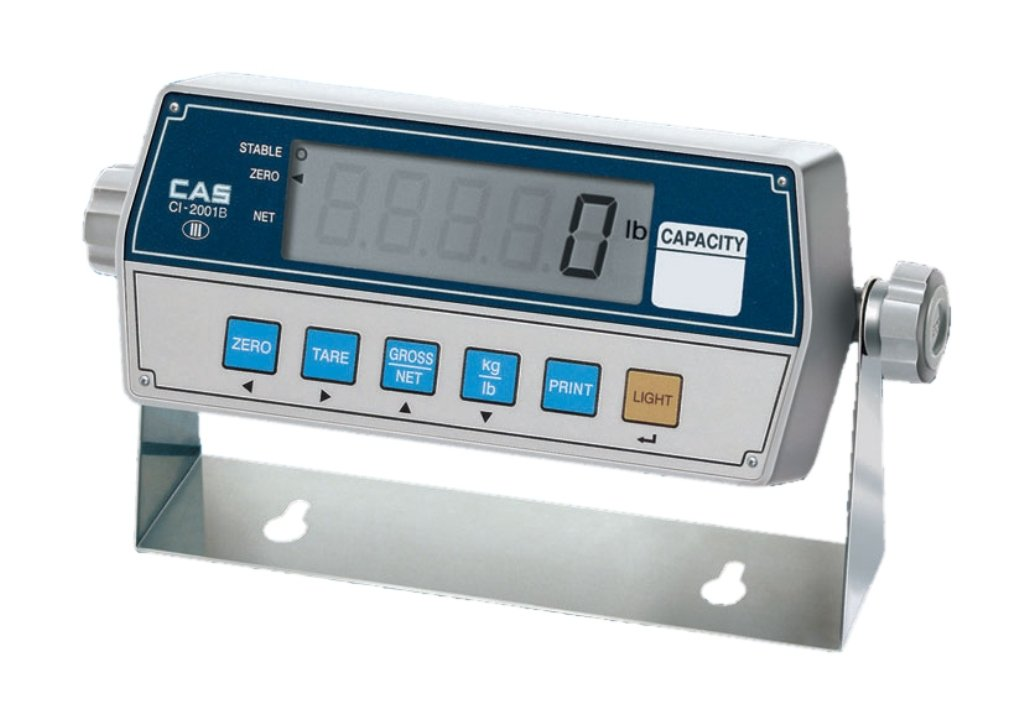 7.32 W x 2.28 D x 3.34 H CAS CI-2001B Weighing Indicator with Backlight 1 LCD