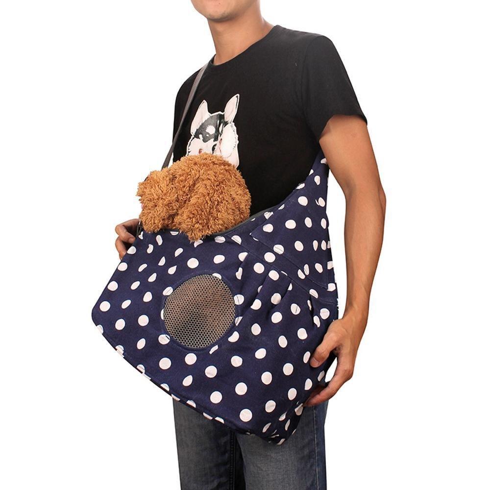 Daeou Zaino per animali domestici Borsa monospalla animali fuori borsa a tracolla tela obliquo zaino portatile portatile Pet Supplies