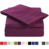 Merous Bed Sheet Set with Deep Pocket - Hypoallergenic Soft Brushed Microfiber Bedding Sheets - Wrinkle, Fade, Stain Resistant