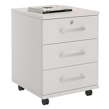 Büroschrank weiß schubladen  Rollcontainer Bürocontainer Büroschrank VANCOUVER, in weiß ...