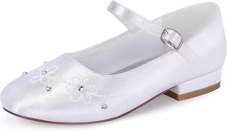 ERIJUNOR White Communion Shoes