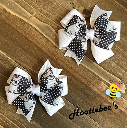 French Bulldog Toddler Hair Bow Set