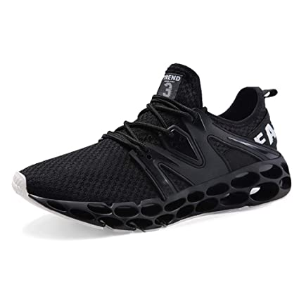 Hasag Sports Shoes New Mens Shoes Running Shoes Shock Absorption,B Black,39