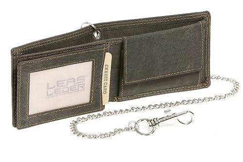 34c04c764 Biker cartera con la cadena de cromo pequeña para señores Monedero para  señoras Vintage-Style