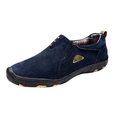 Yiiquan Herren Warm Gefütterte Winterschuhe Freizeitschuhe Outdoor Sport Schuhe Casual Sneakers Blau # 2 39 87Chj17AE
