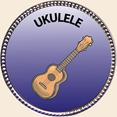 Keepsake Awards Ukulele, Award, 1 inch Dia Silver Pin Musical Instrument Masteries Collection: Toys & Games