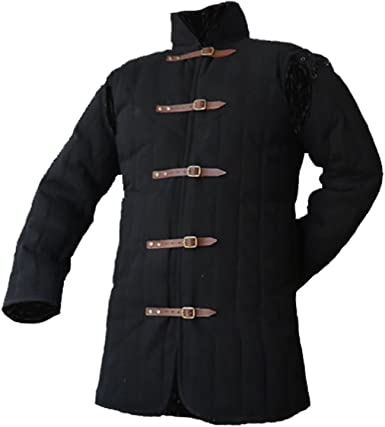 Medieval gambeson Leather gambeson Padded armor SCA gambeson Arming jacket+e.s